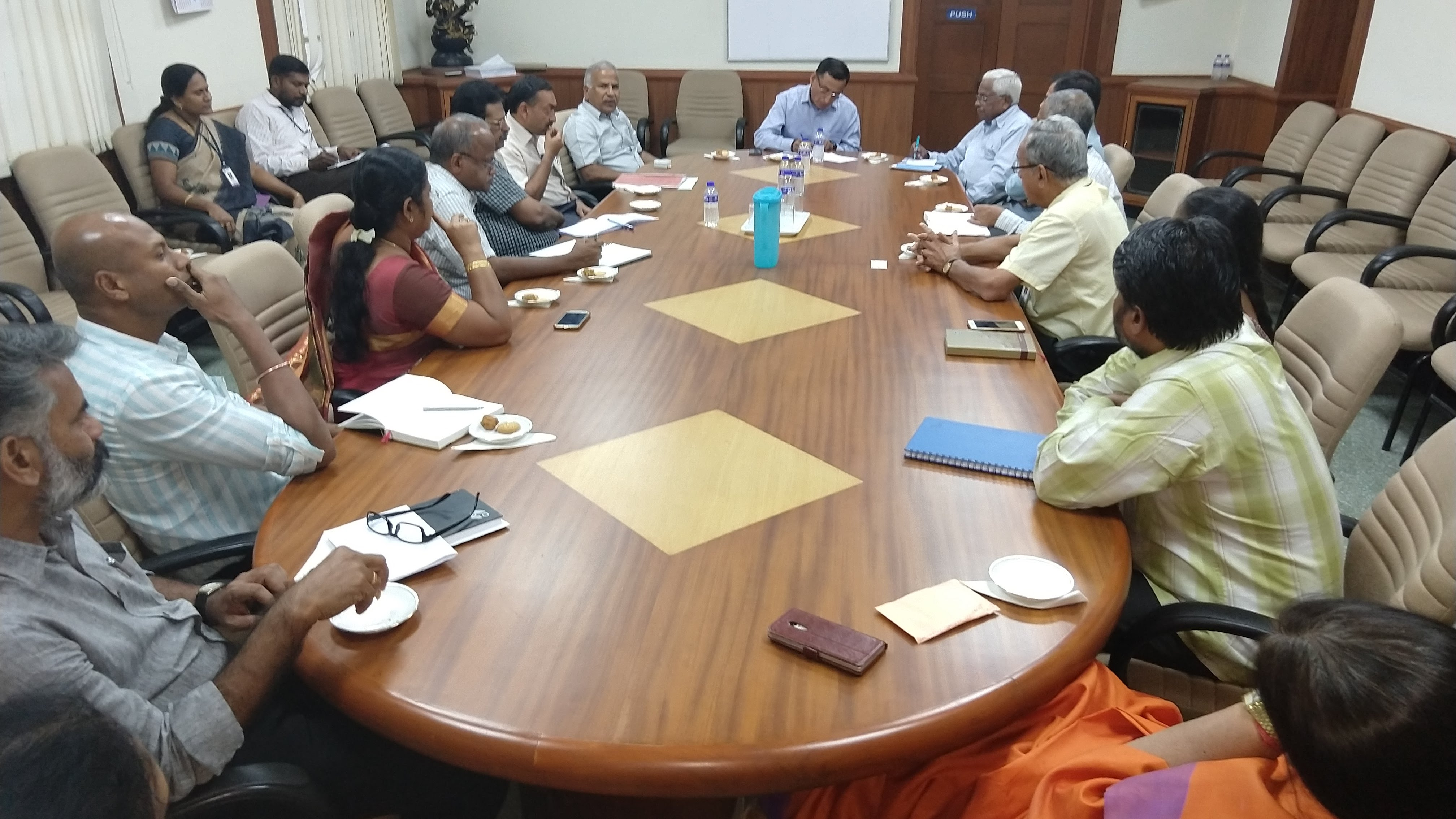 DG SIDM interacting with industry representatives in Coimbatore