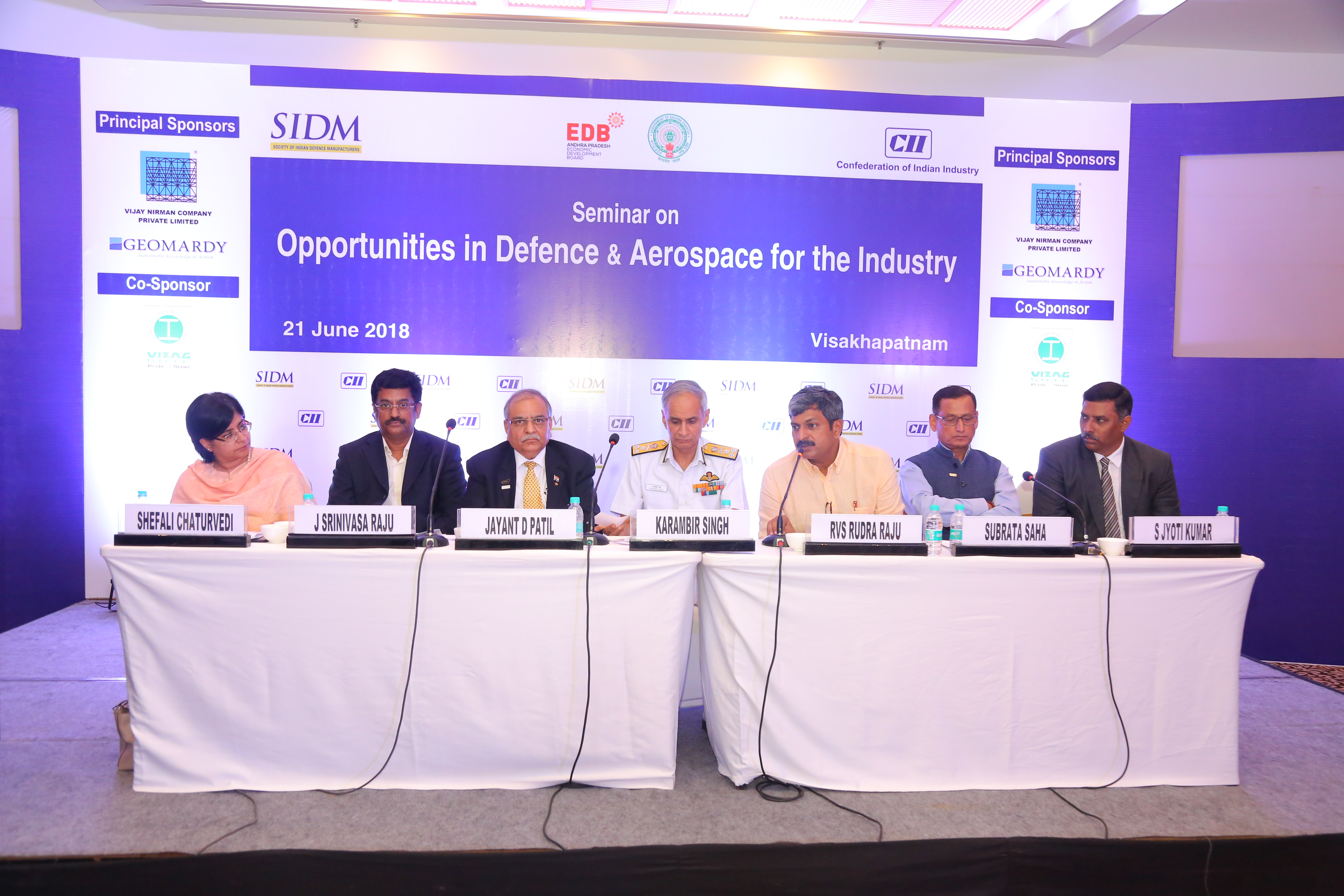 SIDM Seminar on 'Opportunities in Defence & Aerospace for Industry', Visakhapatnam, 21 June 2018